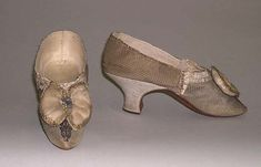 Date: 1770–89 Culture: probably British Medium: silk, leatherShoes