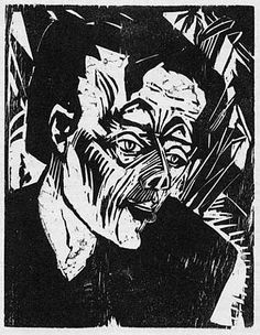 German Expressionistic woodcut