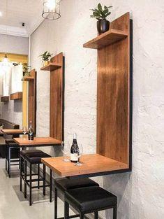 Coffee Shop Interior Design Ideas For Small Cafe Decoration Restaurant, Deco Restaurant, Restaurant Seating, Modern Restaurant, Restaurant Tables And Chairs, Industrial Restaurant, Restaurant Ideas, Wooden Table Restaurant, Australian Restaurant