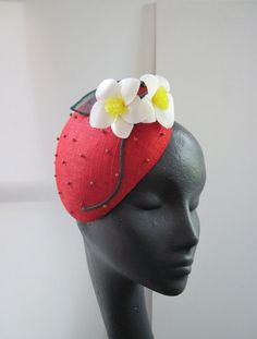 Cocktail Hat Strawberry Flowers £115.00