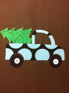 Truck with Christmas Tree Applique