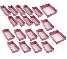 20-piece Drawer Organizer Set by Lori Greiner