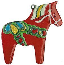 Swedish Dala Horse MINI German Pewter Christmas Ornament Small Decoration Charm ** Details can be found by clicking on the image.