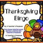 Thanksgiving Bingo great for Thanksgiving vocabulary practice.  Ideal for Preschool, Speech and Language, and ELL.  Includes 12 different bingo car...