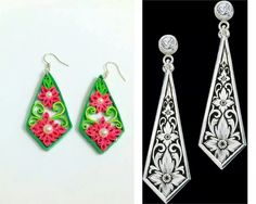 By Naimisha Paper Quilling Jewelry, Paper Bead Jewelry, Quilling Earrings, Quilling Craft, Paper Earrings, Quilling Patterns, Quilling Designs, Paper Beads, Quiling Paper