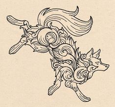 Baroque Wolf | Urban Threads: Unique and Awesome Embroidery Designs