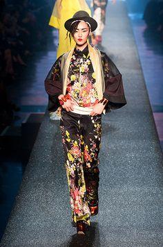 Liu Wen, défilé Jean Paul Gaultier, prêt-à-porter printemps-été 2013, Paris - 13