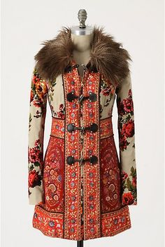 The Karelia coat, inspired by Russian tapestries. ((love!))