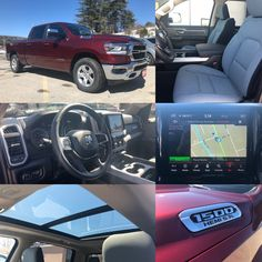 All New 2019 Ram 1500 Big Horn Crew Cab 4x4.  BLUETOOTH. BACKUP CAM. NAV. HTD SEATS. SUNROOF. BEDLINER. TONNEAU. Stock 19011. Click pic for more info.
