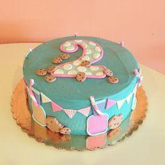 Milk and Cookies Theme Birthday Cake! / 2tarts Bakery / New Braunfels, TX / www.2tarts.com