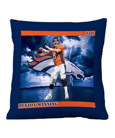 Take a look at this Denver Broncos Peyton Manning Floor Pillow on zulily today!