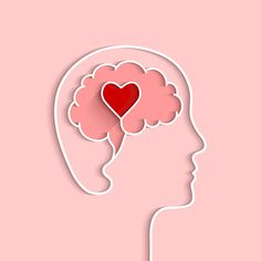 Head and brain outline with heart concept. Vector illustration in flat design with shadow on light pink background. - Buy this stock vector and explore similar vectors at Adobe Stock Brain Illustration, Cute Illustration, Mental Health Day, Mental Health Awareness, Art Psychology, Brain And Heart, Head And Heart, Brain Logo, Posca Art