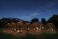 'mi casa, your casa' is a playful urban installation for the time of social distancing High Museum, Event Solutions, Urban Park, Mexico City, Night Time, Gazebo, The Neighbourhood, Public, Outdoor Structures