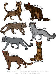 Littlecloud, Onestar, Dustpelt, Purdy, Graystripe, Ashfoot and Mousefur