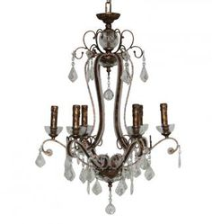 Products / Lighting CRYSTAL CHANDELIER   Loft Living Chandelier, Ceiling Lights, Crystals, Lighting, 1960s, Loft, Home Decor, Products, Candelabra