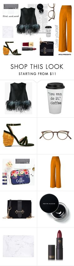 """""""#PolyPresents: New Year's Resolutions - you can do it"""" by mondscheingeheimnisse ❤ liked on Polyvore featuring Prada, MR by Man Repeller, Oliver Peoples, Andrea Marques, Recover, Lipstick Queen, contestentry and polyPresents"""
