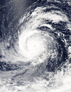 Super Typhoon Soudelor (NW Pacific Ocean) | NASA Aqua Satellite NASA Sees Soudelor Reach Category 5 Typhoon Status On Aug. 4, 2015 at 4:10 UTC (12:10 a.m. EDT) the Moderate Resolution Imaging Spectroradiometer or MODIS instrument aboard NASA's Aqua satellite captured a visible-light image of Super typhoon Soudelor that clearly showed its 12-nautical-mile-wide eye. Thick bands of powerful thunderstorms surrounded the storm and spiraled into the center.