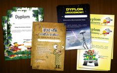 Projekt dyplomów dla dzieci.