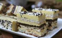 Retete Culinare - will be baking this next week Sweets Recipes, No Bake Desserts, Delicious Desserts, Cake Recipes, Yummy Food, Cooking Recipes, Romanian Desserts, Romanian Food, Hungarian Recipes