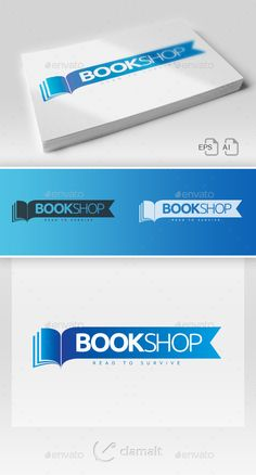 simple logotype suitable for publisher, book shop, bookStore • Click here to download ! http://graphicriver.net/item/book-shop-logo/3299655?s_rank=13&ref=pxcr