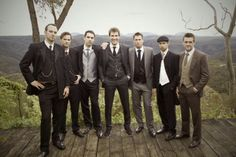 Looooove the idea of all the guys wearing vintage  inspired suits! <3 the pocket watches :)