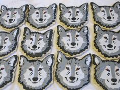 Wolf Face Sugar Cookies Timber Wolf Timberwolves by MartaIngros