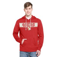 San Francisco 49ers '47 Playmaker French Terry Pullover Hoodie - Scarlet