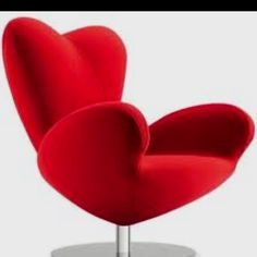 Cool chair #red #chairs #groovy #https://www.facebook.com/ThreeLittlePigsColourAndDesign