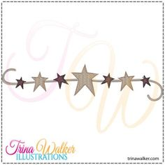 Prim Star Border 1 Machine Embroidery Design 7x5