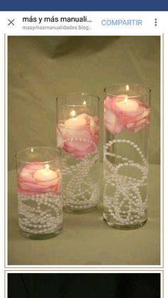 New Ideas For Bridal Shower Decorations Vintage Pearl Wedding Centerpieces Wedding Centerpieces, Wedding Table, Diy Wedding, Wedding Reception, Dream Wedding, Pearl Centerpiece, Wedding Ideas, Shower Centerpieces, Wedding Vintage
