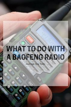 Tips and ideas for things to do with your Baofeng radio, beyond just talking Radios, Survival Prepping, Emergency Preparedness, Survival Shelter, Homestead Survival, Survival Stuff, Survival Skills, Survival Knots, Survival Essentials