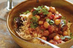 Chickpea and Date Tagine. North African tagines often combine sweet and savory foods to play off the spices used to season them.