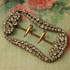 Exquisite Large Vintage ART DECO FLAPPER Rhinestone Buckle at TheFrenchLaundry