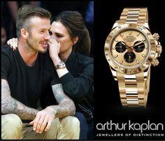 Victoria Beckham wearing a Rolex Daytona, Yellow Gold