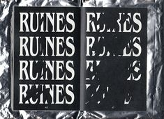 Baptiste Bernazeau's ode to ruins told through crumbling typography and illustration. (See more)