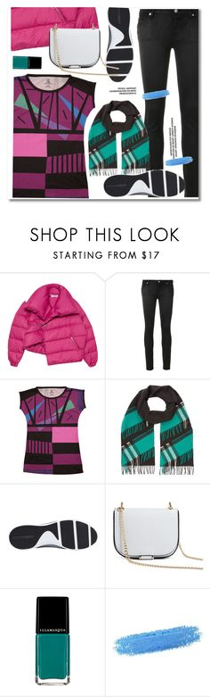 """""""Wrapper's Delight: Winter Scarf"""" by paculi ❤ liked on Polyvore featuring Marques'Almeida, 7 For All Mankind, Burberry, Prada, Forever 21, Illamasqua, By Terry, Graphic and winterscarf"""