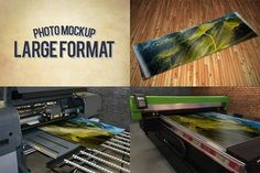 Large Format Print Mockups by Exit3 on @creativemarket