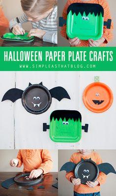 Halloween bordjes knutselen.