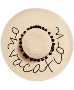 August Hats On Vacation Floppy Hat - Natural/Black