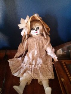 15 in hand painted one of a kind Day of The Dead dolls by grandmaswitchesbroom on Etsy