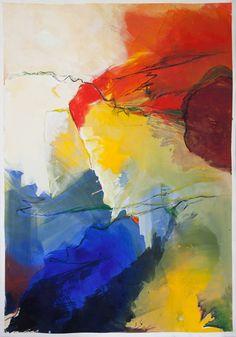 kunstreiche | Farbrausch 04 | Acryl auf Papier | 100 × 70 cm