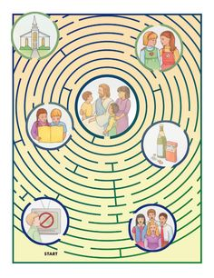 LDS Choose The Right Maze / Primary, FHE