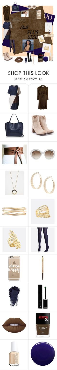 """""""Untitled #76"""" by chickiechic ❤ liked on Polyvore featuring Elvi, Botkier, Gucci, Lane Bryant, Avenue, Casetify, Lancôme, Givenchy, Lime Crime and Butter London"""