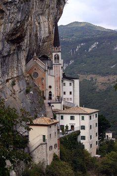 | ♕ | Sanctuary Madonna della Corona near Spiazzi, Trentino, Italy   | by © kaʁstn