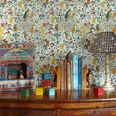Scenic Wallpaper, Bold Wallpaper, Kids Wallpaper, Print Wallpaper, Wallpaper Roll, Pattern Wallpaper, Adventures In Wonderland, Alice In Wonderland, House Of Hackney Wallpaper