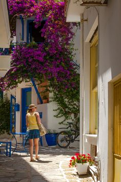 Streets of Skiathos Island, Greece