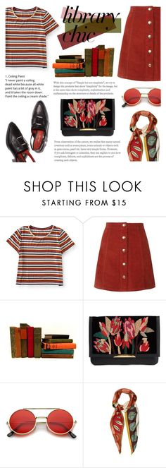 """Library Chic: Crimson Mix"" by saviraauliap ❤ liked on Polyvore featuring Aéropostale, Lizzie Fortunato, ZeroUV and Valentino"