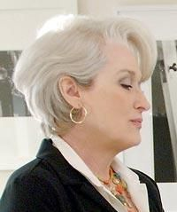 the devil wears prada hairstyles | Meryl Streep Side Swept hairstyle with ideas