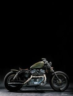 """1997 Harley-Davidson Sportster 883 """"The witch"""" on Behance"""