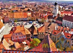 Beautiful Medieval City of Sibiu was in 2007 European Cultural Capital. Sibiu is one of the most beautiful cities from Romania. Large and Small Squares, Bridge of Lies, Evangelical, Catholic and Orthodox Churches, Council Tower and so many more sites Carpathian Mountains, Cultural Capital, Medieval Town, Top Destinations, Most Beautiful Cities, Bucharest, San Francisco Skyline, Dolores Park, Castle